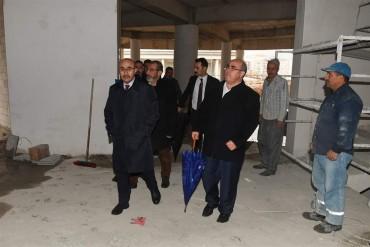 Adana Valisi Sayın Mahmut DEMİRTAŞ Yeni Binamızın inşaatını inceledi.